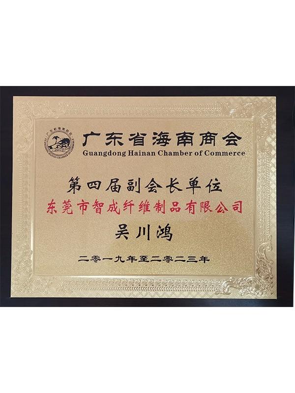星辉注册总经理海南省海南商会第四届副会长单位