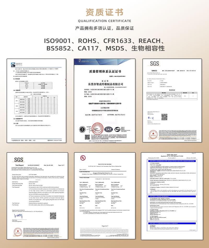 针刺棉-资质证书